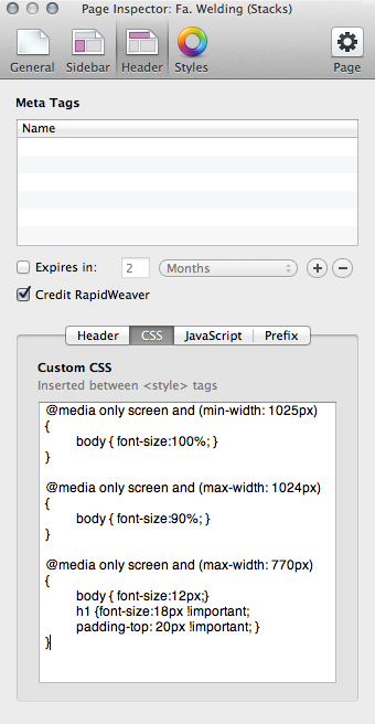Responsive text | RapidWeaver Stacks tips and ideas